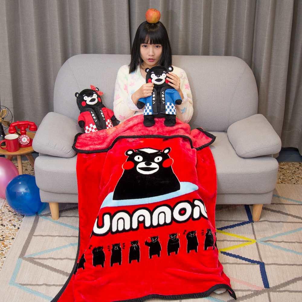 Kumamo熊本溫泉 頂級加厚法蘭絨休閒毯