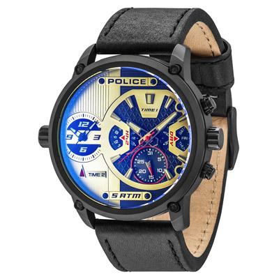 POLICE 勇闖禁區雙時區時尚錶-14833JSB-04/50mm