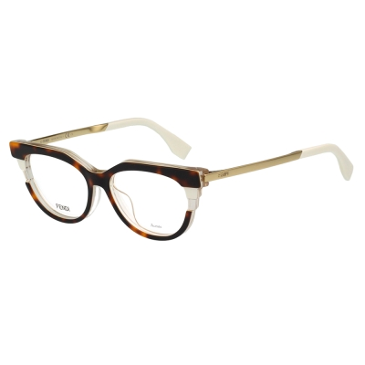 FENDI 廣告主打 光學眼鏡 (琥珀色)FF0116