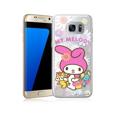 三麗鷗正版 美樂蒂 三星 Galaxy S7 edge 透明軟式保護殼(郊遊)