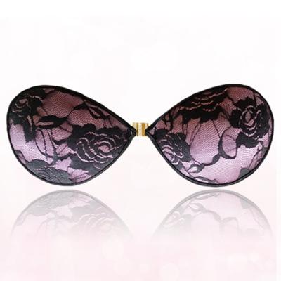 隱形胸罩 甜心lace無痕薄款矽膠(淺紫) I-shi