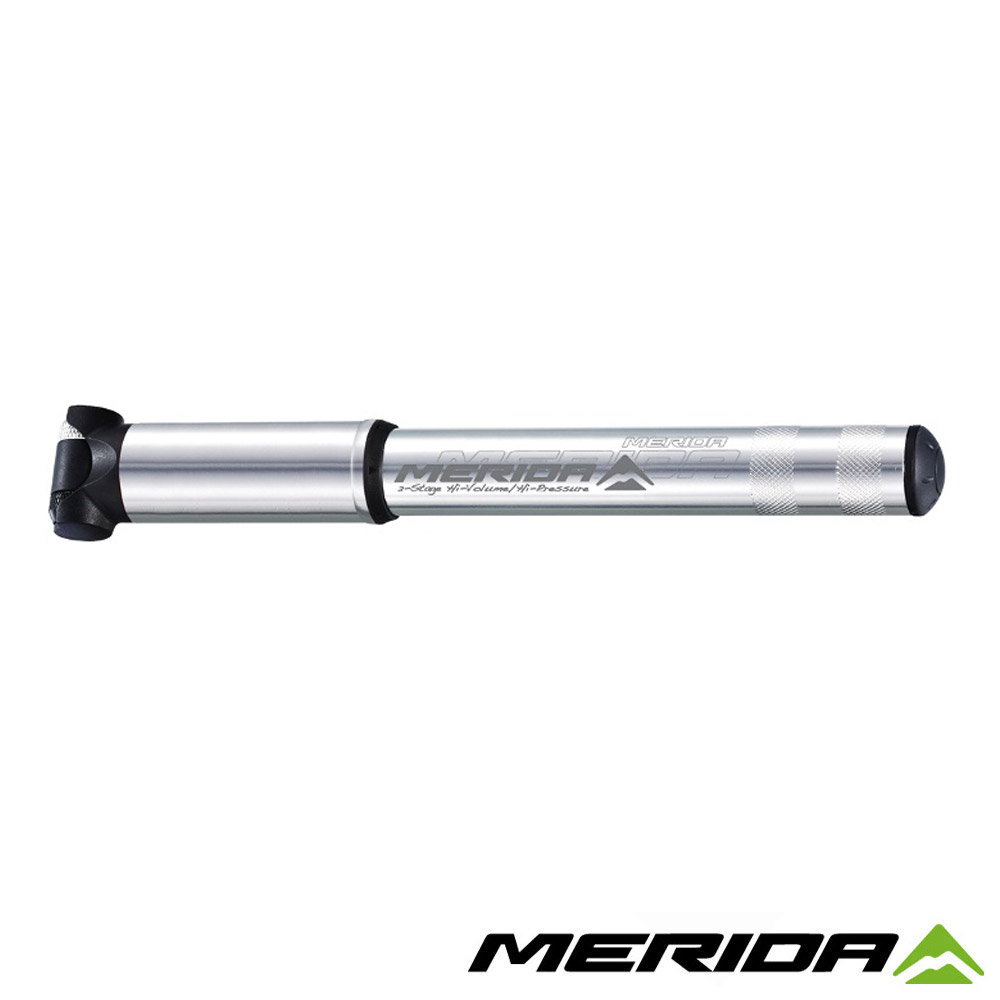 《MERIDA》美利達 攜帶式打氣筒 銀/黑 1504