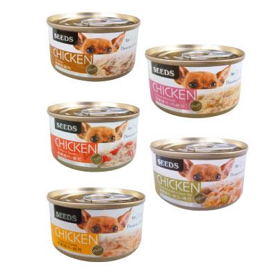 聖萊西Seeds CHICKEN 愛狗天然食 70g 隨機混搭 48罐組