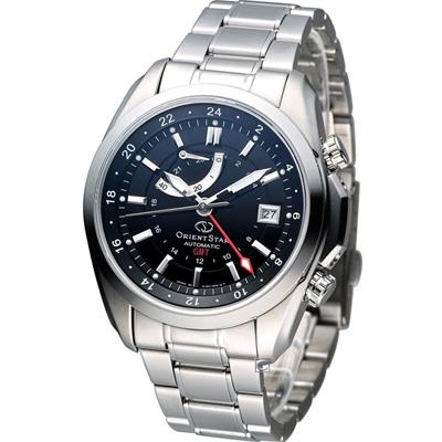 Orient Star GMT 動力存儲機械腕錶-黑/41mm