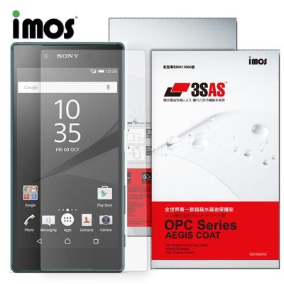 iMOS Sony Xperia Z5 3SAS 疏油疏水 螢幕保護貼