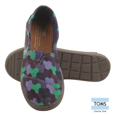 TOMS 繽紛積木懶人鞋-孩童款(紫)