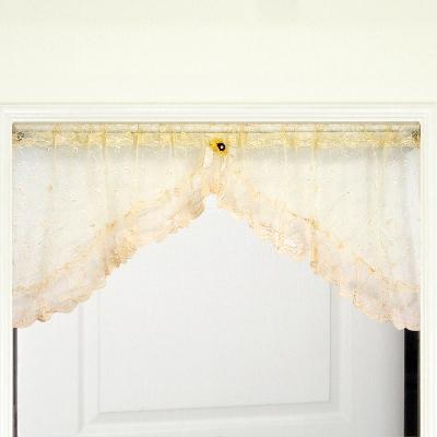 布安於室-蔷薇刺繡短門簾-寬168x高62cm