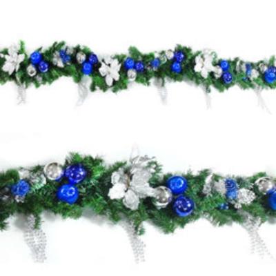 9 尺( 270 cm)聖誕裝飾樹藤條 (藍銀色系)