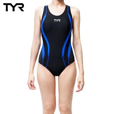 美國TYR Alliance Splice MaxBack修身款連身泳裝-藍