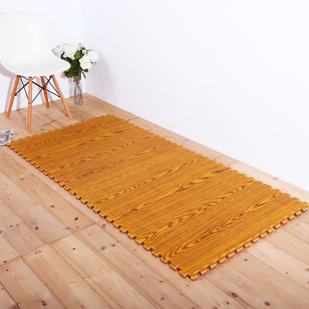 E&J-環保木紋耐磨地墊 90*90*1.8CM 4入