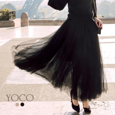 東京著衣-yoco 安琪聯名法式時髦全長重磅紗裙-XS.S.M.L(共二色)