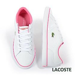 LACOSTE 女用休閒鞋-白/粉