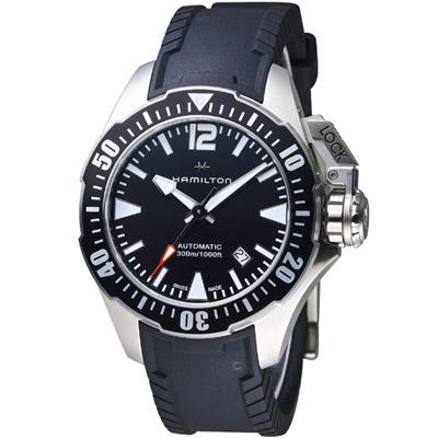 Hamilton 漢米爾頓卡其海軍系列蛙人機械錶-黑/42mm