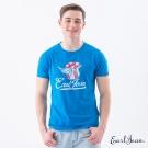 Earl Jean 美式安全帽T恤-水藍-男