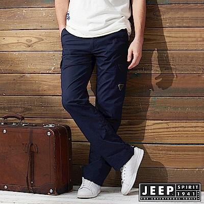 JEEP 美式野練口袋工作長褲 -深藍色