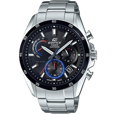EDIFICE  三眼設計計時腕錶(EFB-510JDB-1A)黑/44.3mm