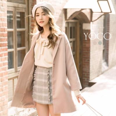 東京著衣-yoco 優雅韓風翻領單釦西裝外套-S.M.L(共三色)