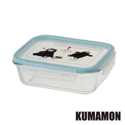 【KUMAMON熊本熊】耐熱玻璃保鮮盒1040ML(長形)