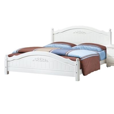 愛比家具 塞西莉5尺白色雙人床架