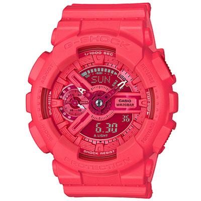G-SHOCK 時尚貴婦摩登雙顯錶(GMA-S110VC-4A)-桃紅