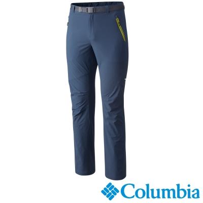 【Columbia哥倫比亞】男-鈦防潑防曬50彈性長褲-藍色 UAM15870BL