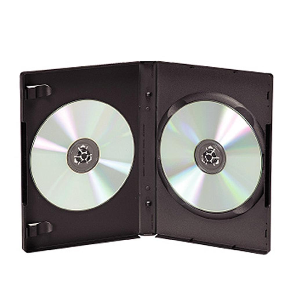 DigiStone 雙片光碟片精裝優質軟盒/黑色 100PCS