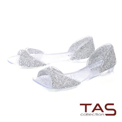 TAS滿版水鑽魚口後包涼鞋-亮眼白