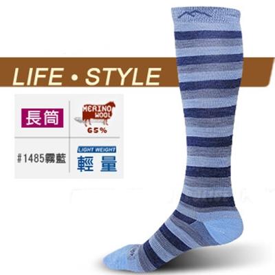 【DARN TOUGH 】VERMONT 美麗諾羊毛襪(2入)_霧藍