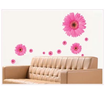 B-026創意生活系列--雛菊牆貼(粉紅) 大尺寸高級創意壁貼 / 牆貼