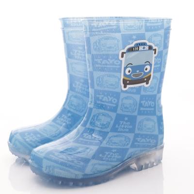 TAYO小巴士 印花電燈雨鞋款 SE4804藍(中小童段)T