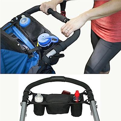 DF 生活趣館 - 推車專用置杯架置物袋推車掛袋-黑色