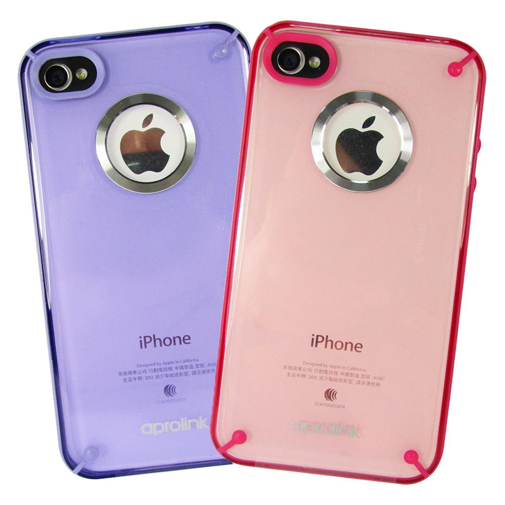 AproLink iPhone4/4s 鋁環透色保護殼