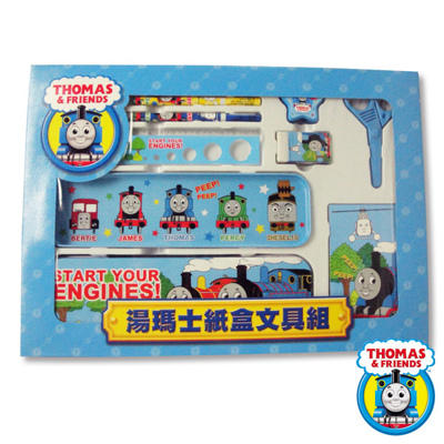 【吉彥】兒童台灣製文具組_Thomas湯瑪士系列