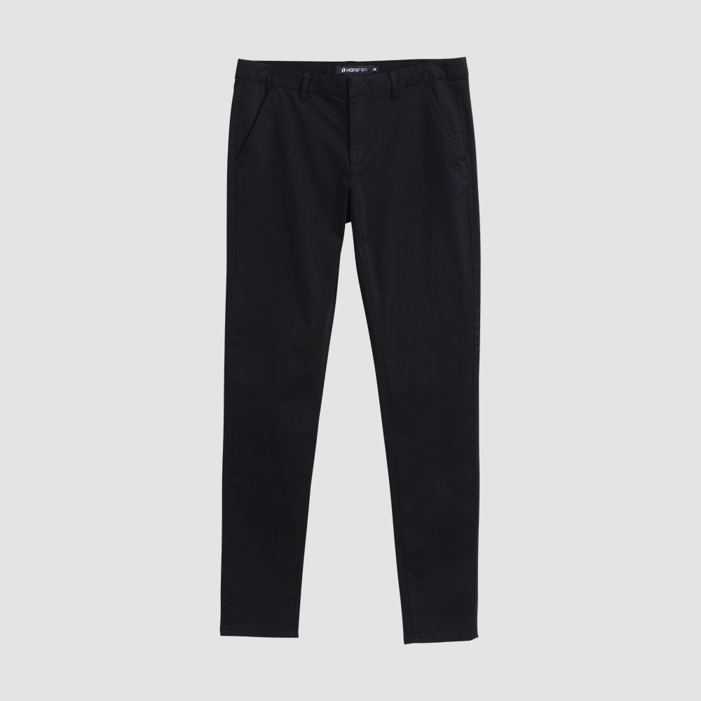 Hang Ten - 女裝 - 彈性修身美型西裝褲-黑