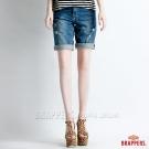 BRAPPERS 女款 Boy Firend Jeans 系列-女用五分反摺褲-淺藍