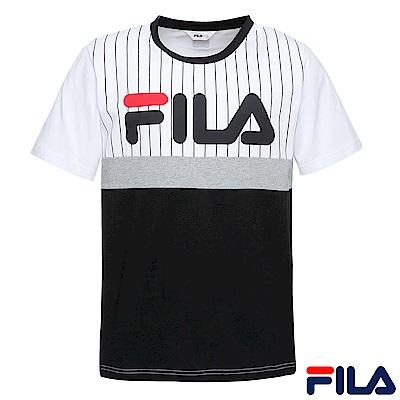 FILA-男款圓領T恤-黑1TER-1407-BK
