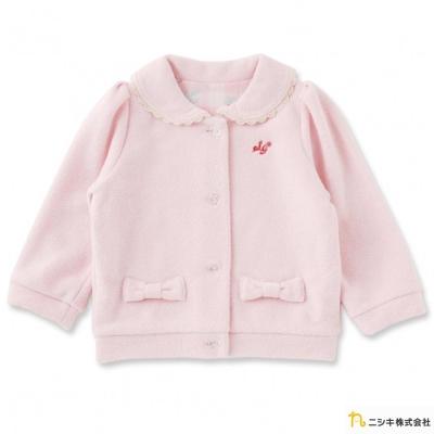 Nishiki 日本株式會社 粉紅碎花格紋蝴蝶結外套