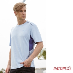 【瑞多仕-RATOPS】男 WINCOOL 短袖排汗衣_DB8860 寧靜藍/藍紫