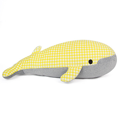 Yvonne Collection鯨魚造型抱枕-黃格