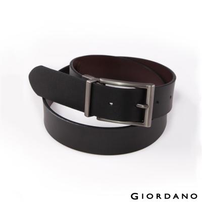 GIORDANO-雙面用紳士皮帶-01黑-咖