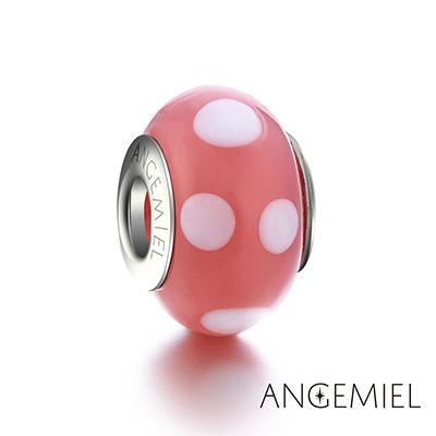 Angemiel安婕米 義大利純銀 琉璃串珠 粉紅點點