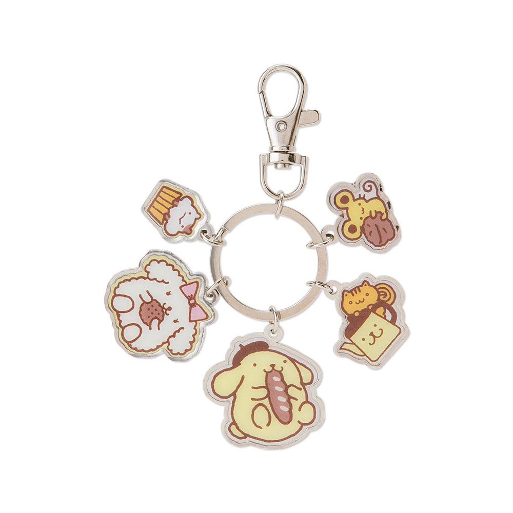 Sanrio 布丁狗金屬造型鐵牌鑰匙圈(好朋友)