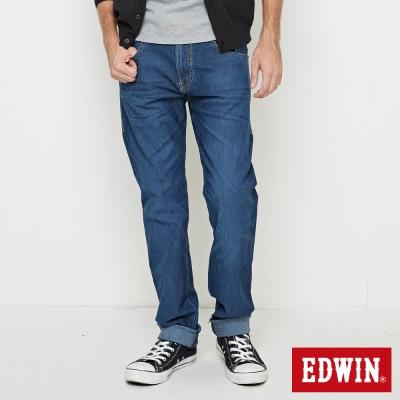 EDWIN 中直筒 迦績褲無接縫牛仔褲-男-拔洗磨