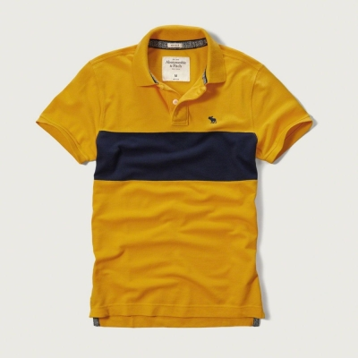 AF a&f Abercrombie & Fitch 短袖 POLO 黃色 177