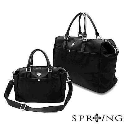 SPRING-2件組-守護者輕量側背包-星夜黑
