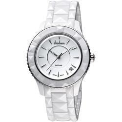 Diadem 黛亞登 巴洛克優雅陶瓷腕錶-白/40mm