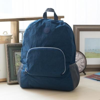COUNT DUCK 美系悠活輕量輕巧收納後背包-CD-028-海軍藍