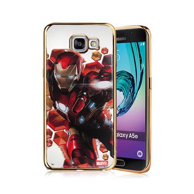 漫威正版 三星 Galaxy A5(2016) 美國隊長3 彩繪電鍍手機殼(鋼鐵...