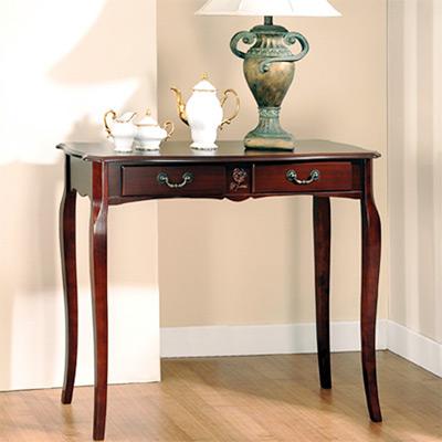 英式古典-維多利亞二抽玄關桌-咖啡色