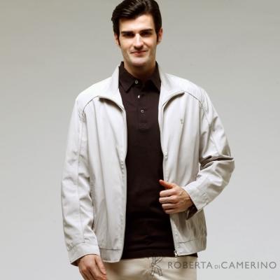 ROBERTA諾貝達 台灣製 經典休閒夾克外套  淺灰